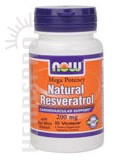 Natural Resveratrol 200 Mg 60 VCaps
